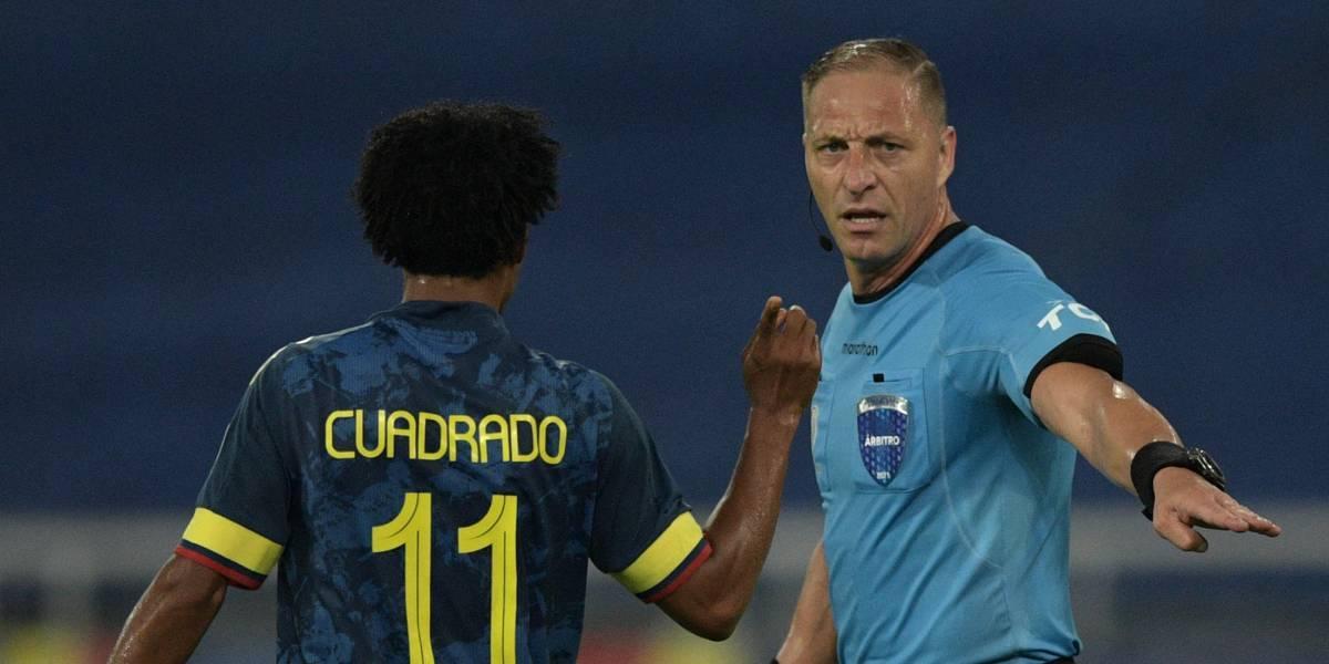 Cuadrado muy molesto por arbitraje de Néstor Pitana en Colombia vs Brasil