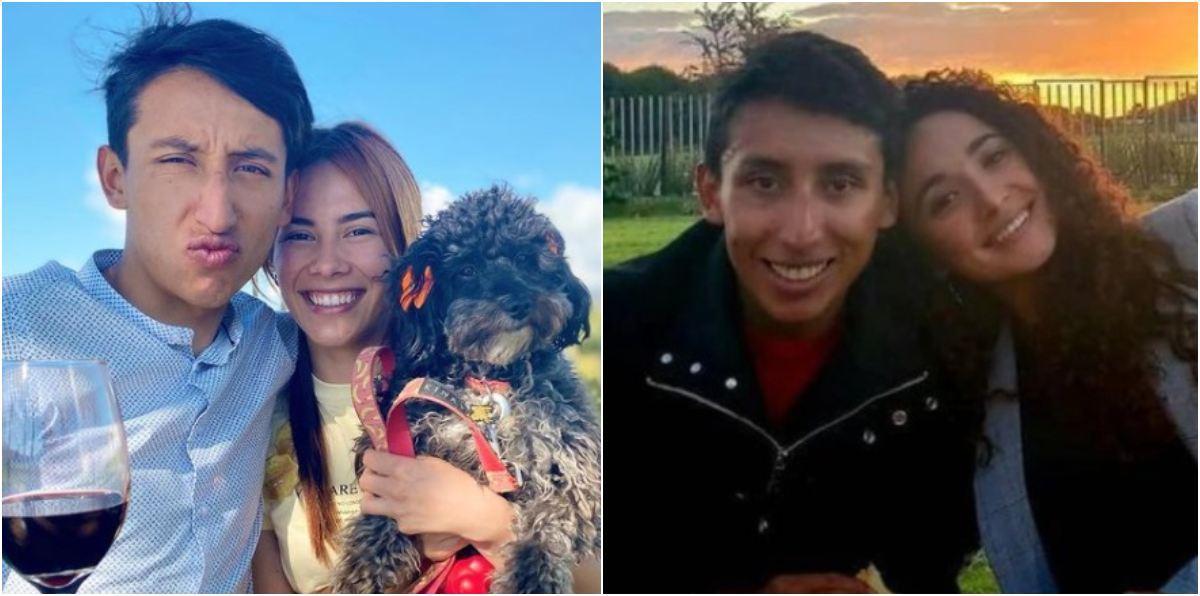 Egan Bernal la misma foto con su novia María Fernanda Motas y su ex Xiomy Guerrero