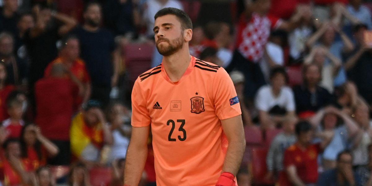 Arquero de España marcó autogol ante Croacia en Eurocopa