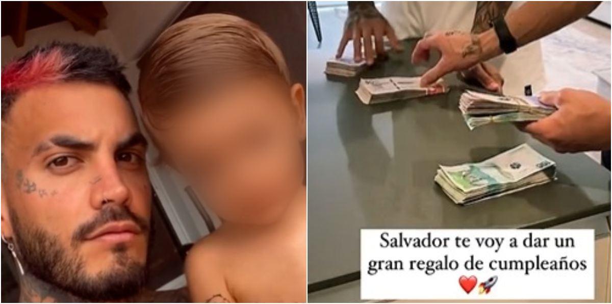 Mateo Carvajal regalo cumpleaños a su hijo Salvador inversión en oro
