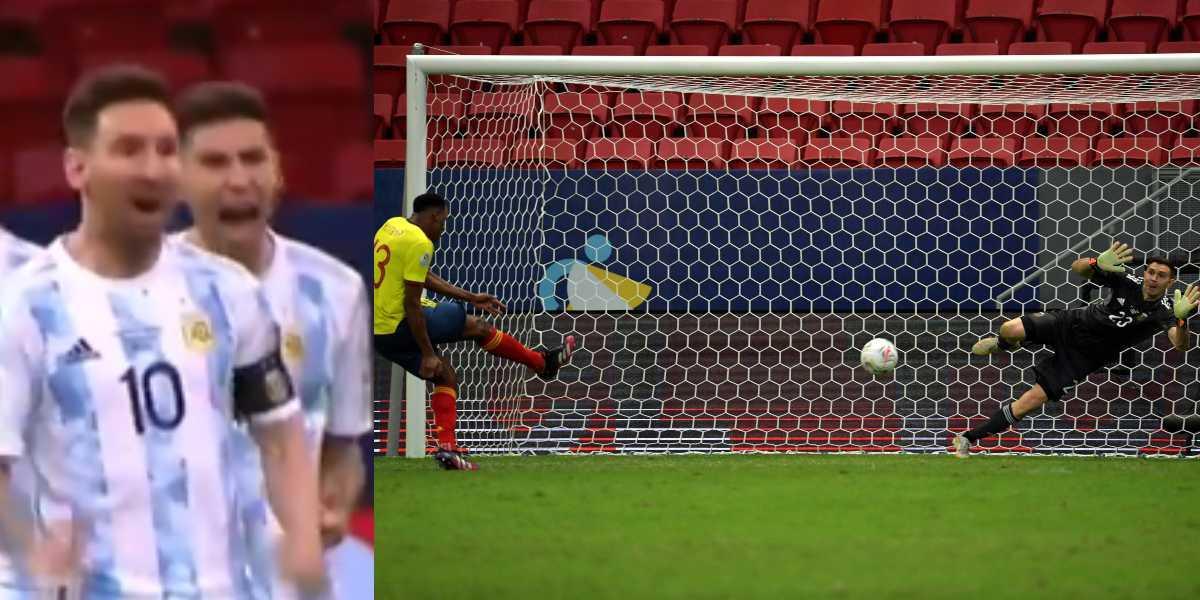 Lionel Messi Yerry Mina