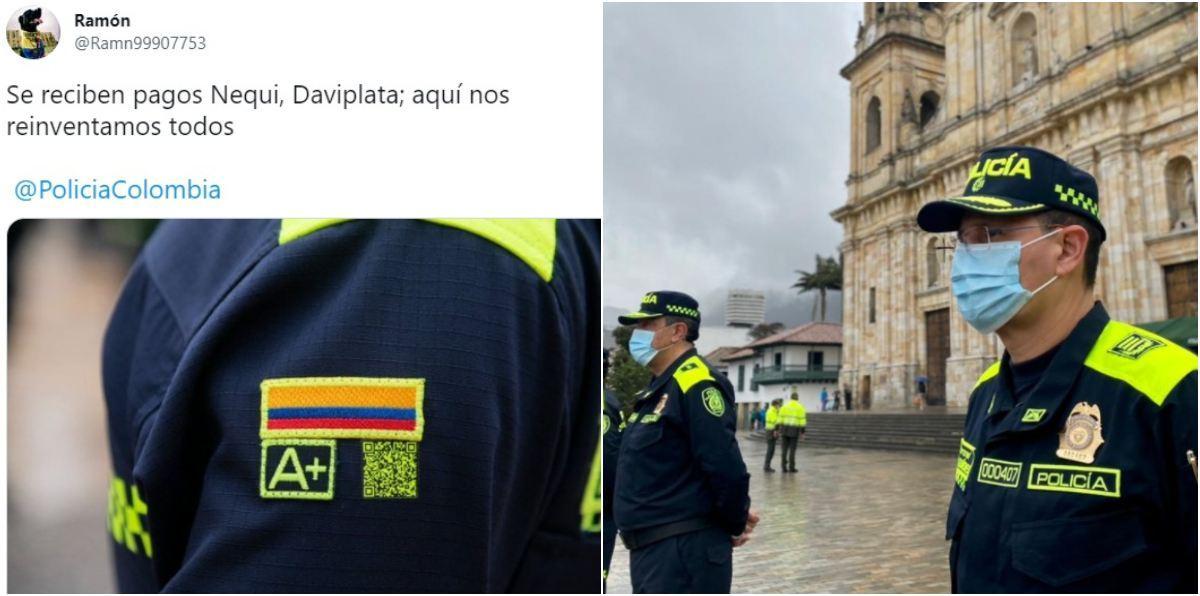 Código QR nuevo uniforme de la Policía críticas memes y burlas Nequi