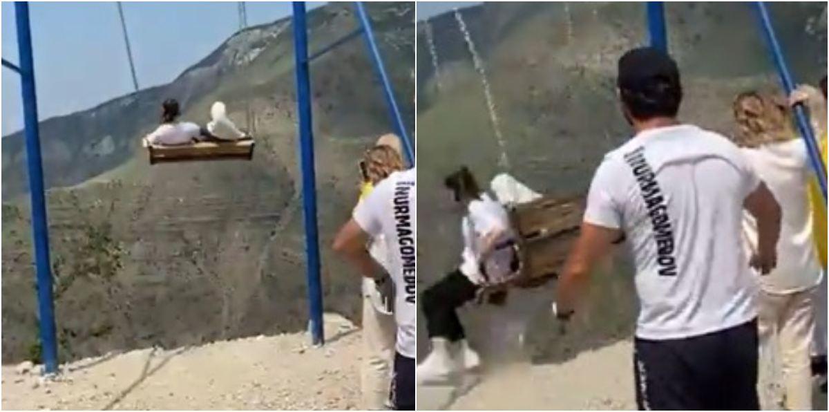 Mujeres cayeron vacío columpio cañón Sulak