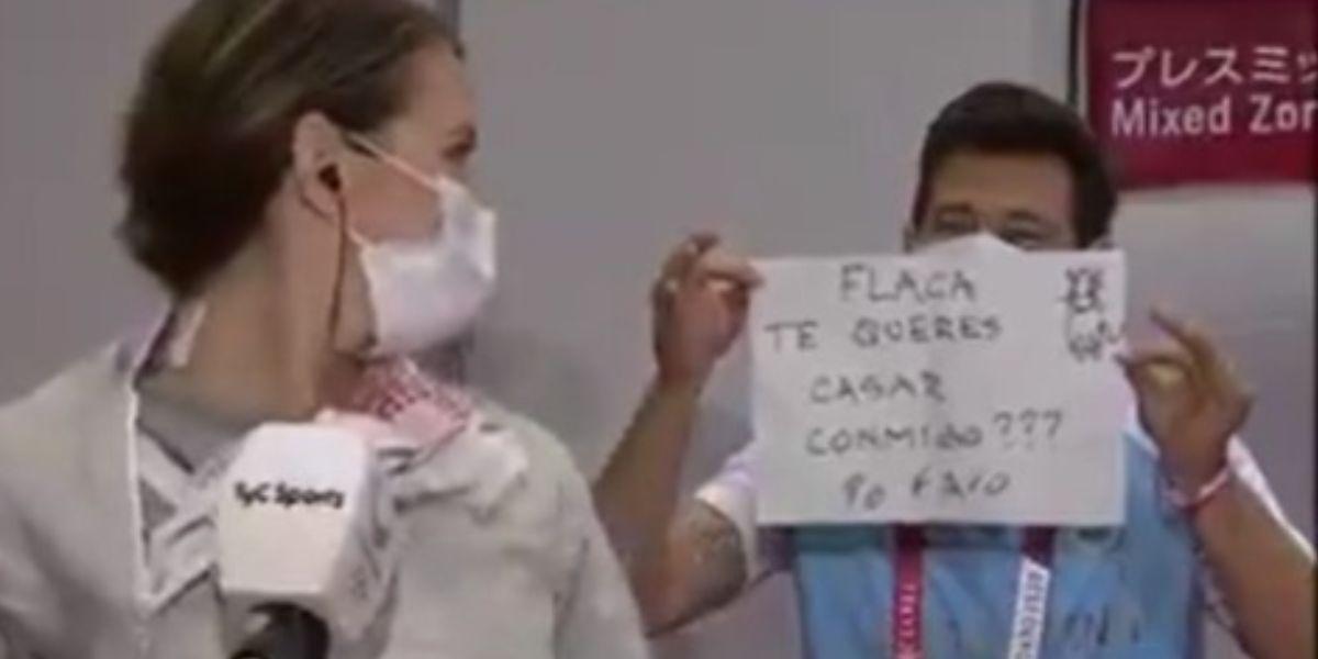 Novio de esgrimista le propuso matrimonio en plenos Juegos Olímpicos de Tokio 2020