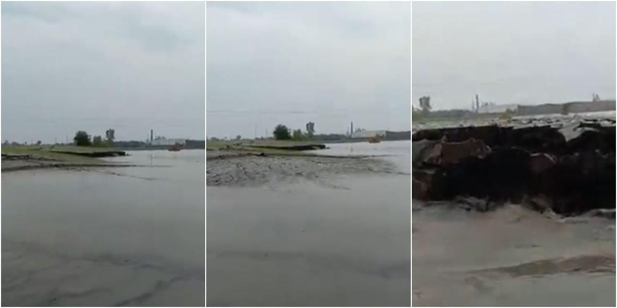 video tierra sale del agua fenomeno narutal explicacion india
