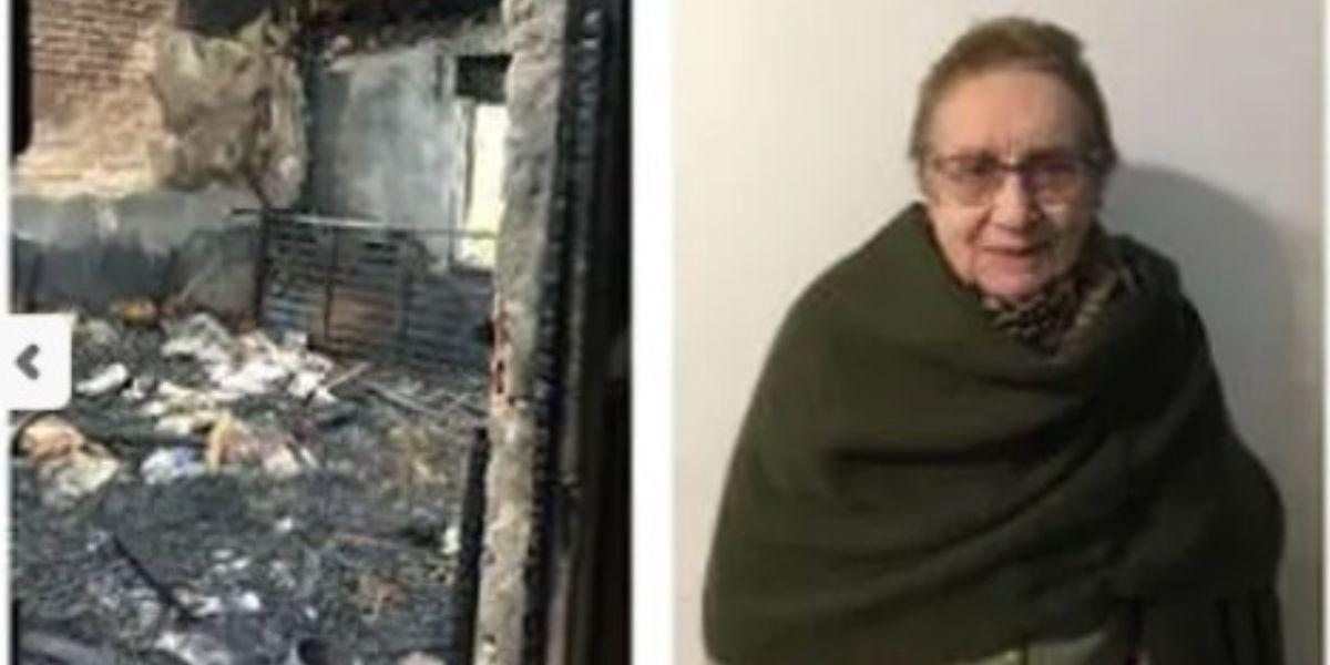 A abuelita se le quemó la casa por prender vela para examen de su hijo