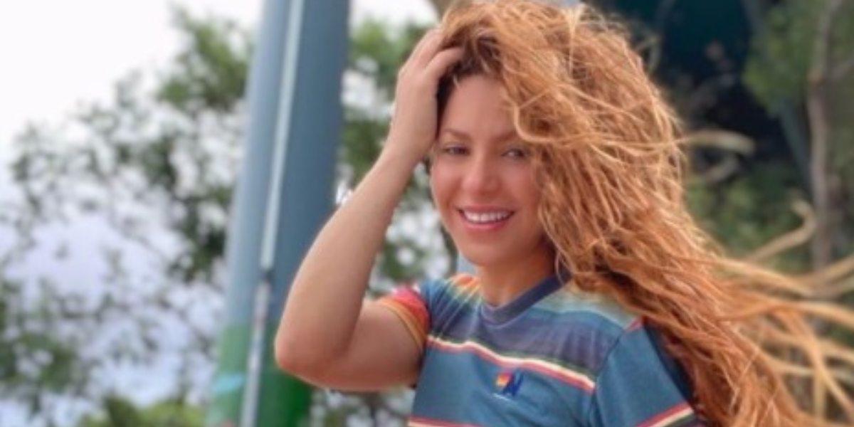 Shakira publicó video bailando con sus hijos Sasha y Milán