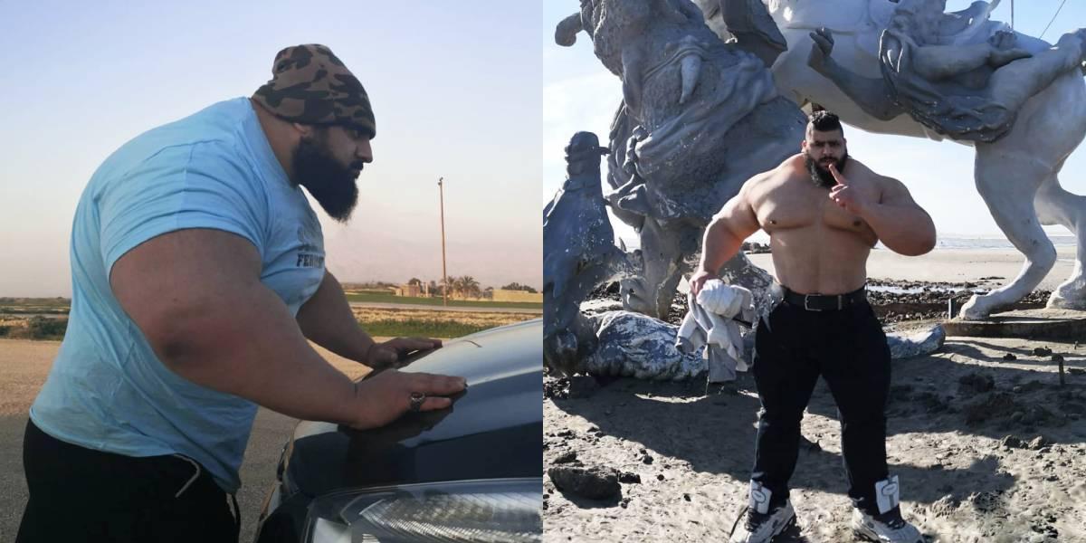 Las impresionantes fotos de Sajad Gharibi, conocido por ser el Hulk Iraní