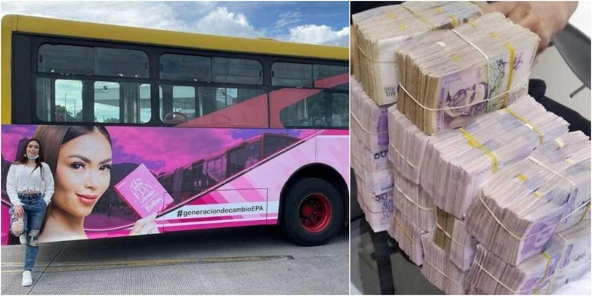 cuanto pago costo valor epa colombia publicidad keratinas transmilenio buses