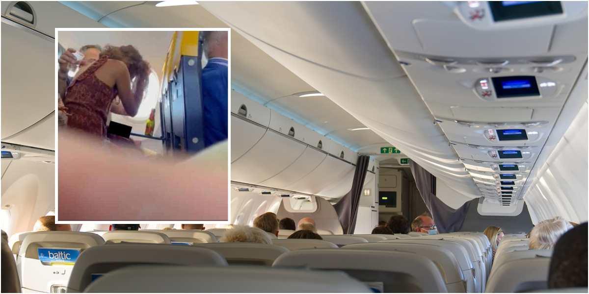 video pareja escenas obscenas pleno vuelo avion ryanair