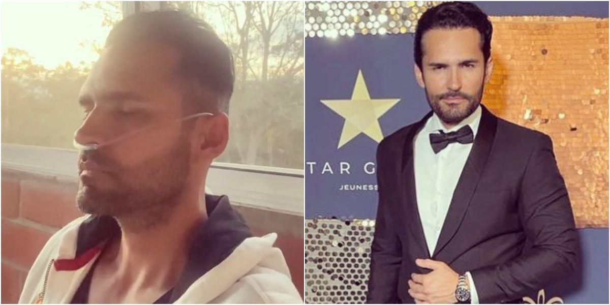 Actor Fabián Ríos apareció con tanque de oxígeno y preocupó a sus seguidores