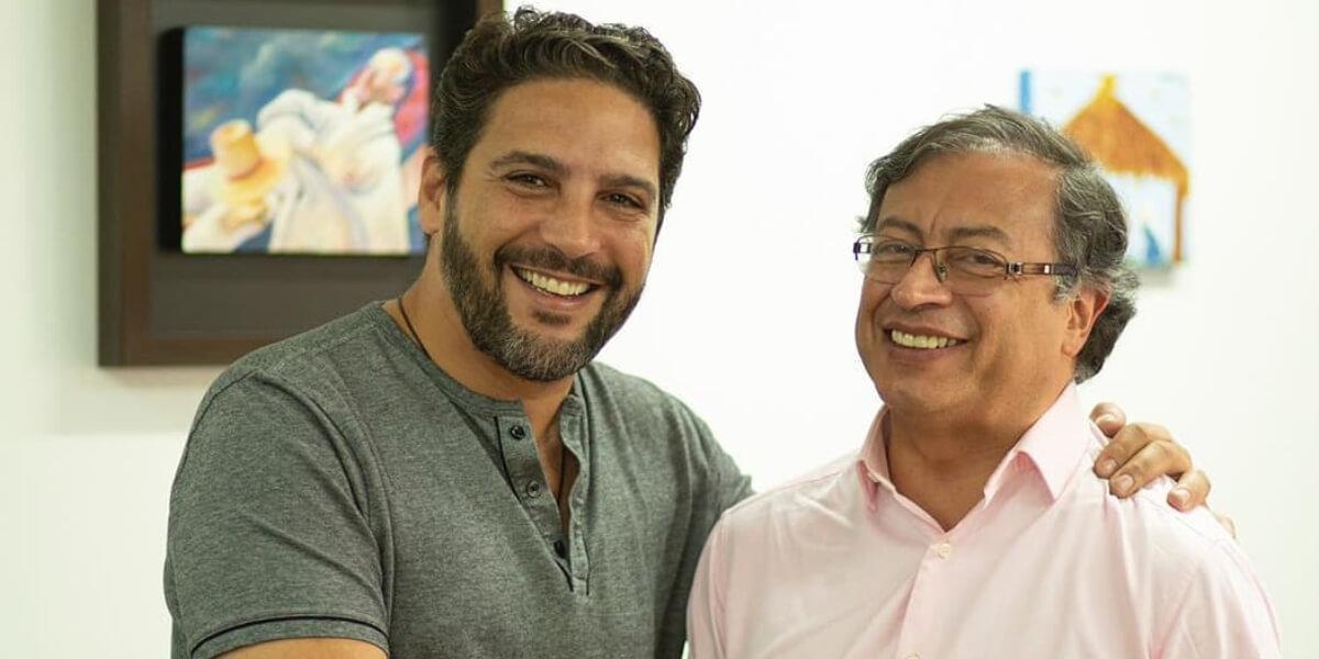 Agmeth Escaf y Gustavo Petro