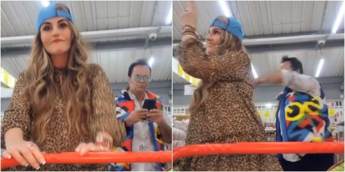 Aura Cristina Geithner reto J Balvin In da Guetto video TikTok