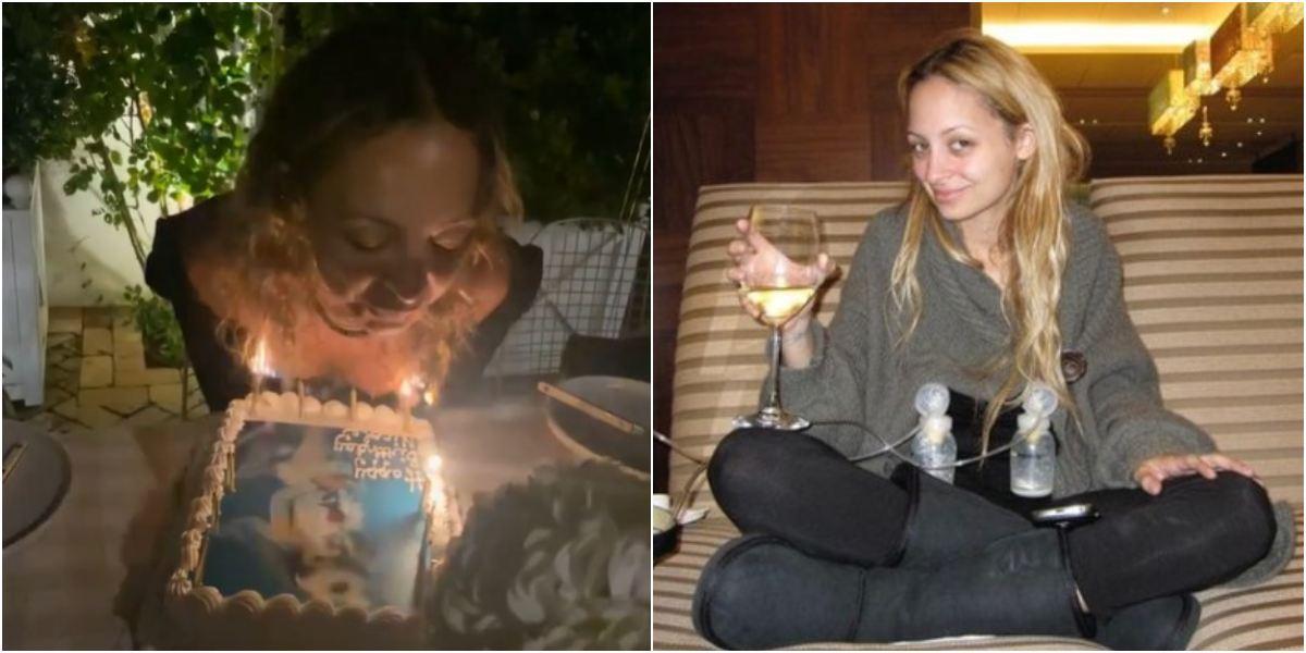 Nicole Richie se le quemó pelo torta cumpleaños cuando soplaba velas