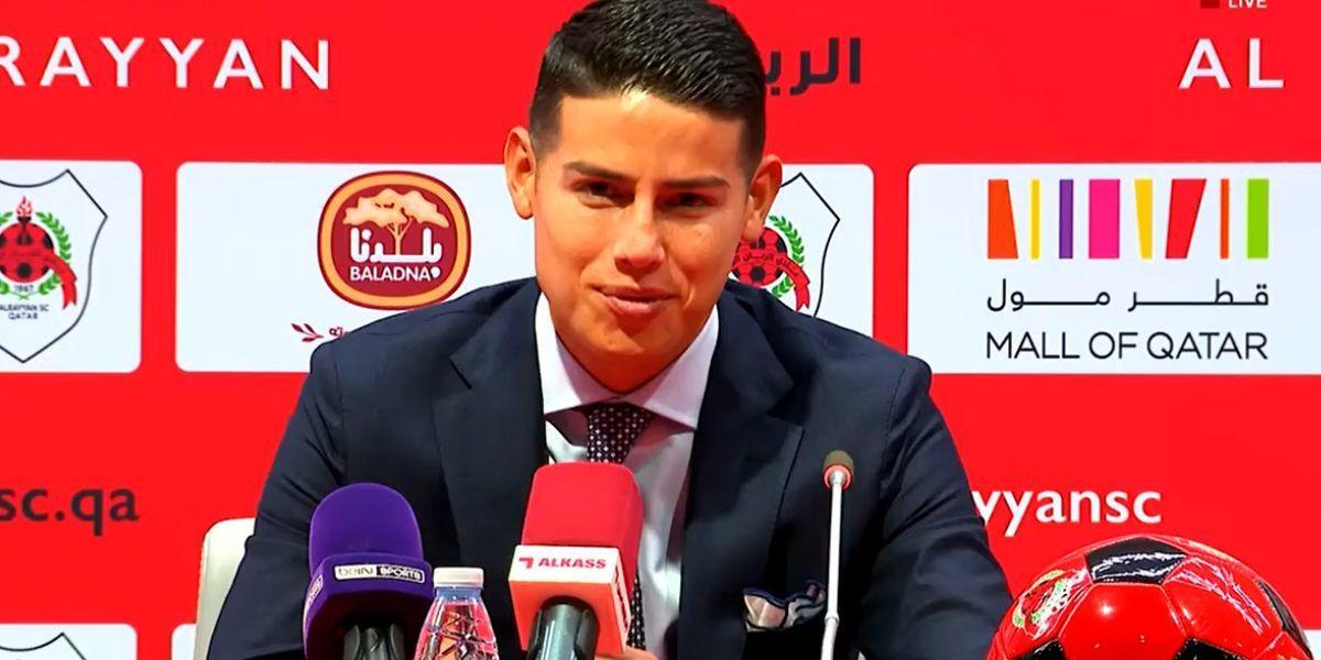 James Rodríguez pidió plazo para jugar debut primer partido con el Al Rayyan
